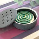 フタ付陶器の蚊やり器